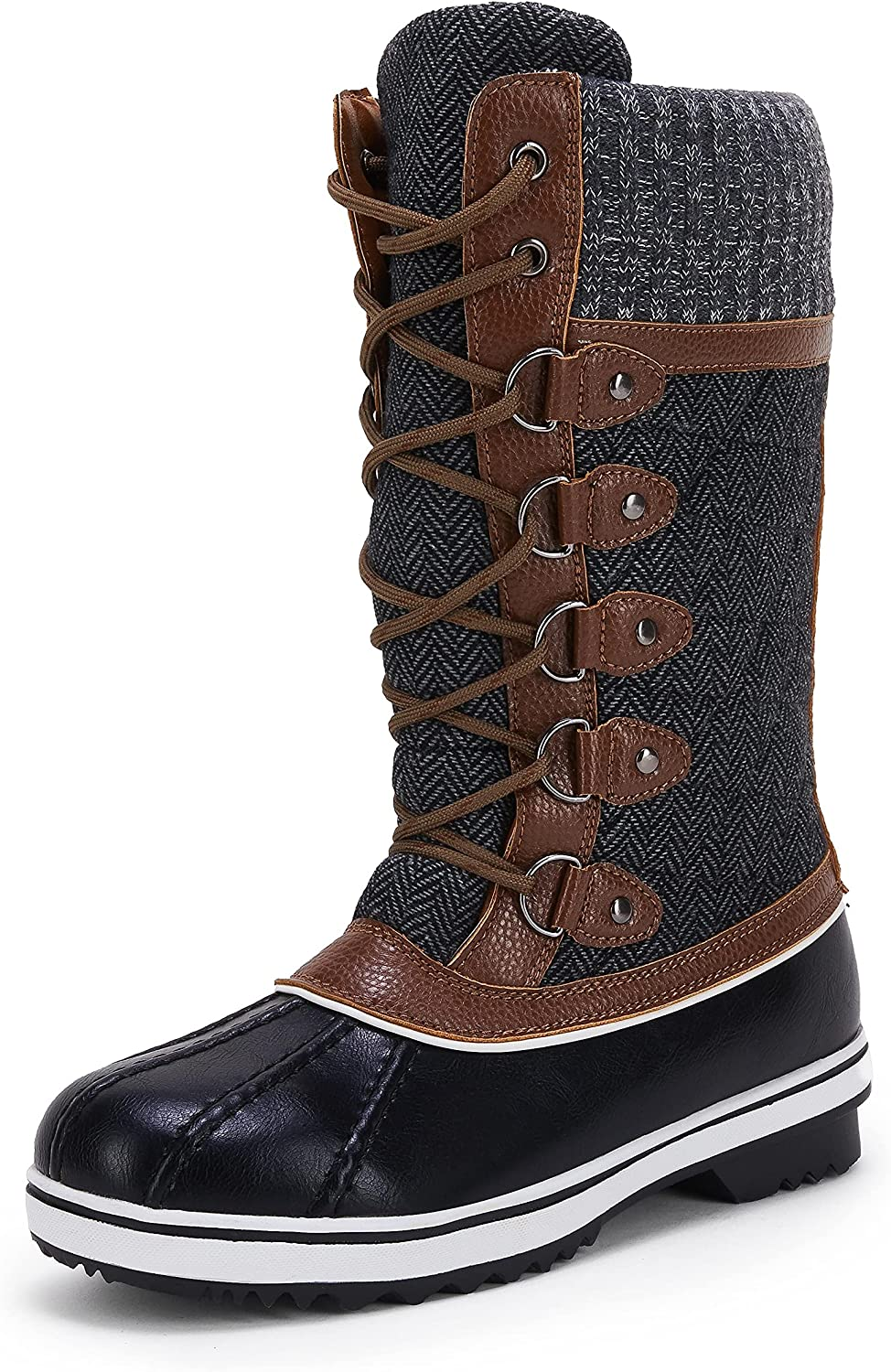 Women's Mid-Calf Winter Snow Boots Warm Waterproof Insulated Fashion Outdoor Shoes