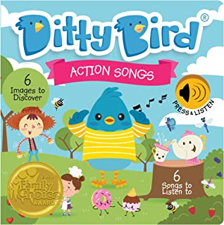 DITTY BIRD Baby Sound Book: Our Action Songs Musical Book for Babies is The Perfect Toys for 1 Year Old Boy and 1 Year Old...