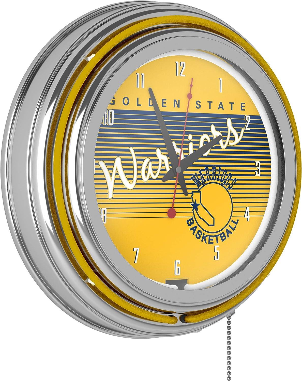 Golden Minneapolis Mall State Warriors Hardwood Classics Max 58% OFF Neon NBA Ring Clock