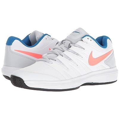 Nike Air Zoom Prestige Clay (White/Hot Lava/Pure Platinum/Blue Nebula) Women