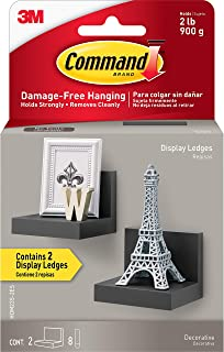 Best Command Display Ledges, Slate, 2-Ledges, 8-Medium Foam Strips (HOM23S-2ES), Decorate Damage-Free Review