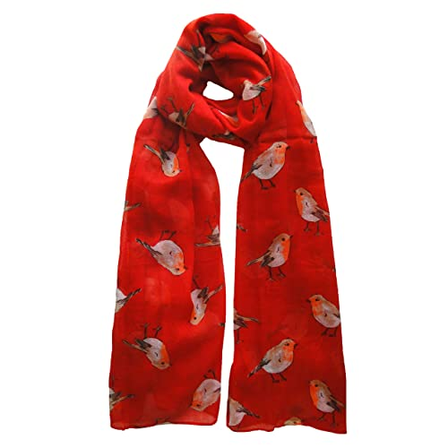 Peony Gingerbread Man Print Scarf RedFREE UK Postage!
