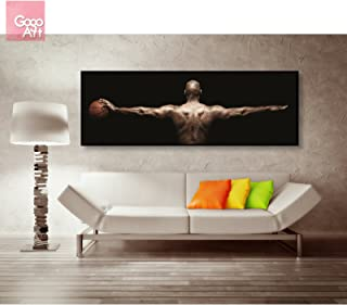 GoGoArt ROLL Canvas print wall art home decor picture photo big poster abstract modern (no framed no stretched not oil painting) Michael Jordan nba Chicago bulls wings A-0004-3 (24 x 72 (inches))
