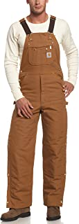Men's Quilt Lined Zip To Thigh Bib Overalls R41