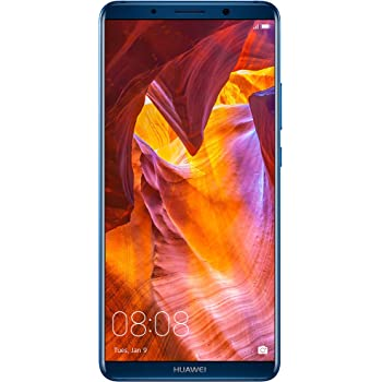 """Huawei Mate 10 Pro Unlocked Phone, 6"""" 6GB/128GB, AI Processor, Dual Leica Camera, Water Resistant IP67, GSM Only - Midnight Blue (US Warranty)"""