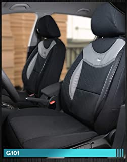 Beige Hyundai Tucson ab 2015 Schonbezüge Sitzbezüge 1+1 D107 Schwarz