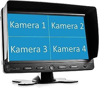 LULUDP C/ámaras de marcha atr/ás Espejo retrovisor universal for autom/óvil Instalaci/ón incluida Pantalla completa de 10 pulgadas FHD 1080P Touch IPS DVR for autom/óvil con detecci/ón nocturna de movimient