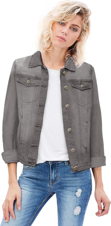 HyBrid & Company Women Junior classic 4 Pockets Denim Jacket