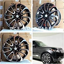20 inch x 9.5 Wheels Rims RR AUTOBIOGRAPHY STYLE Black Machined Face Compatible with LAND ROVER RANGE ROVER WR-17 SPORT WR-16 Bolt Pattern 5x120 Set of 4