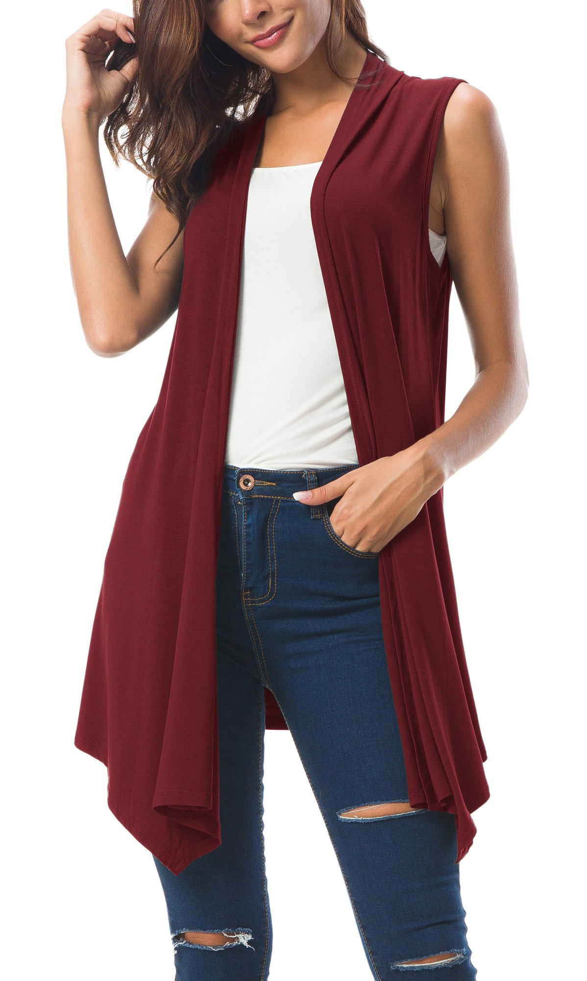 Urban CoCo Sleeveless Cardigan Asymmetric