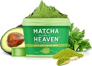 LILY SADO Green Tea Face Mask - Organic Natural VEGAN Facial Mask - Anti-Aging, Antioxidant Defense Against Acne, Blackhea...