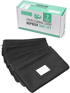 Premium Bank Deposit Cash Bag Set - Security/Safe/Cosmetic/Bankbag/Moneybag/Money Holder - Travel Wallet - Zipper Money Ba...