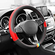 FH Group FH2008RED Red Full Spectrum Leather Steering Wheel Cover