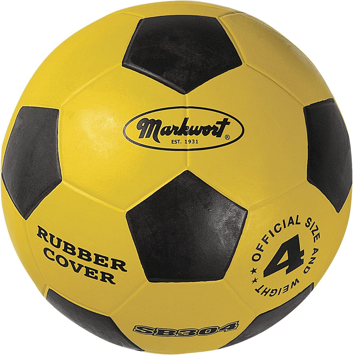 Popular product Markwort Jr. quality assurance Size-4 Rubber Cover Yellow Ball Soccer