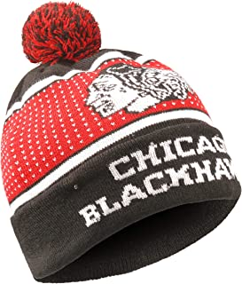 Forever Collectibles NHL Unisex-Adult (Luggage only) Big Logo Knit Light Up Beanie Hat