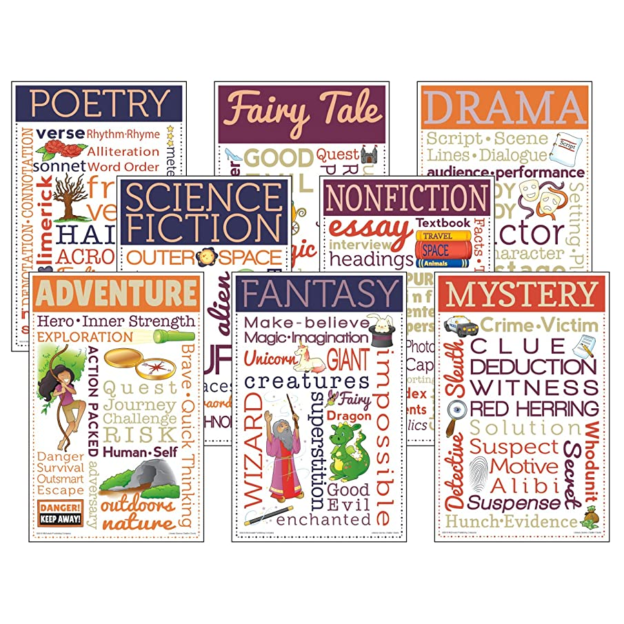 McDonald Publishing Literary Genres Chatter Charts Chart