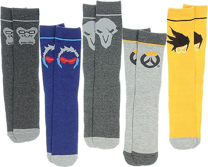 2. Overwatch 5 Pair Crew Socks