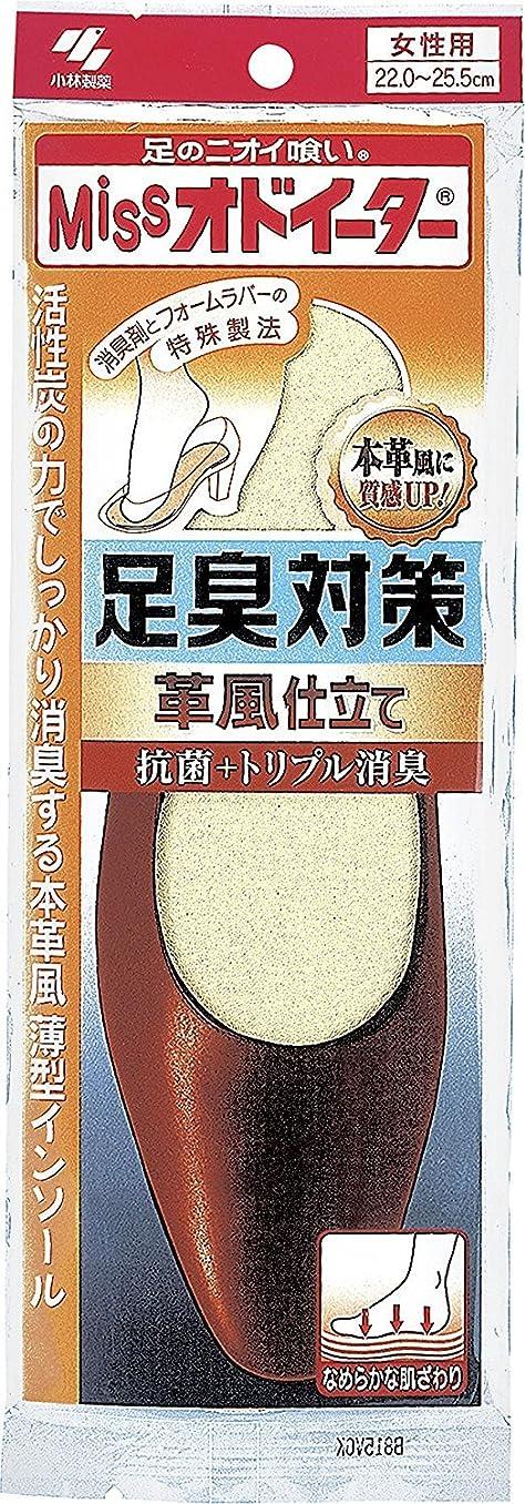 実現可能性と闘う便利ミスオドイーター 足臭対策 革風仕立て インソール 女性用22cm~25.5cm 1足