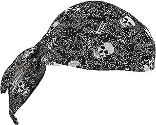 Ergodyne Chill-Its 6615 Absorptive Moisture-Wicking Dew Rag, Skulls