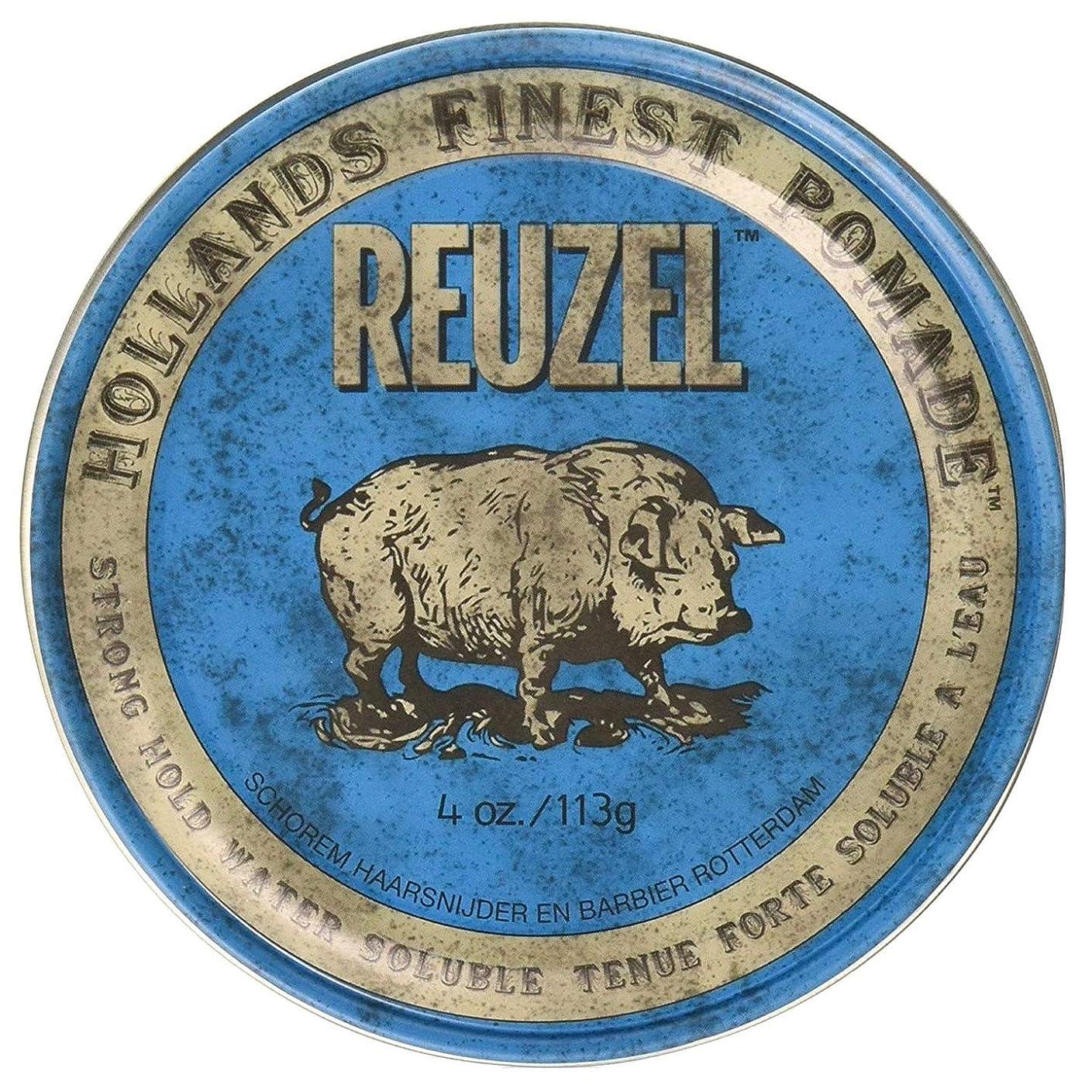バンジージャンプ私たちの酒ルーゾー ブル ストロングホールド ハイシーン ポマード Reuzel Blue Strong Hold Water Soluble High Sheen Pomade 113 g [並行輸入品]