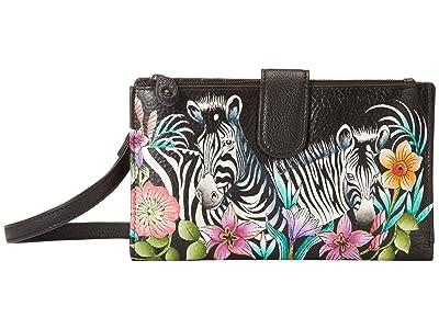 Anuschka Handbags Large Smartphone Case Wallet 1113 (Playful Zebras) Handbags