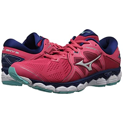 Mizuno Wave Sky 2 (Teaberry/Blue Depths) Girls Shoes