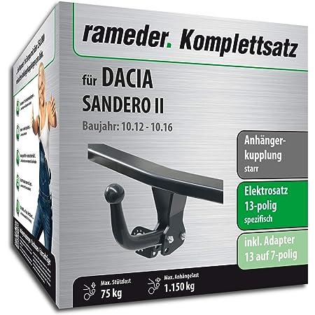 Rameder Komplettsatz Anhängerkupplung Starr 13pol Elektrik Für Dacia Sandero Ii 113470 10963 1 Auto