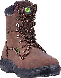 Mens Brown Waterproof Leather Steel Toe Work Boots