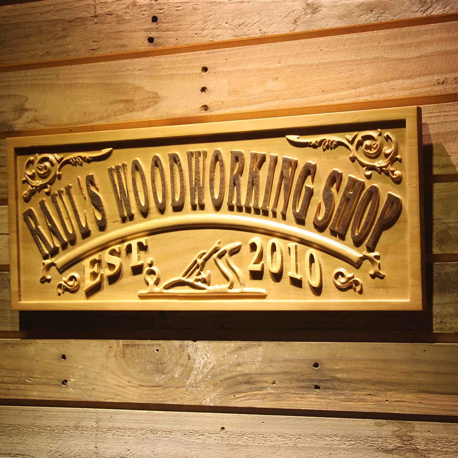 ADVPRO wpa0356 Name Seattle Mall Personalized Decoratio Shop Woodworking Easy-to-use Wood