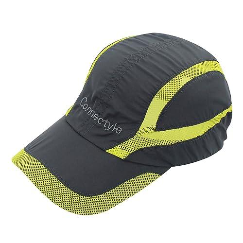 Connectyle Quick Drying Mesh Sun Cap Lightweight Sports Hat Breathable Sun  Runner Cap 796fba5b29d2