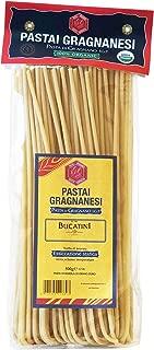 Bucatini Organic Italian Pasta di Gragnano   I.G.P. Protected   17.6 Ounce   500 Gram   Pack of 4