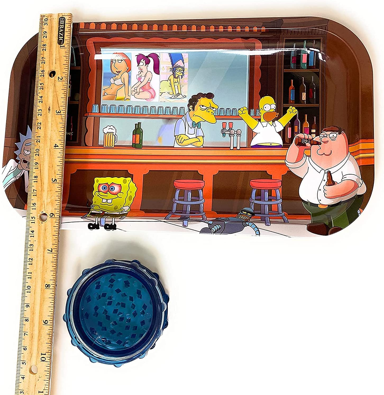 Metal Rolling Tray 11x7 Inches Homer Rick Now on sale New Superior Morty and Des Rare