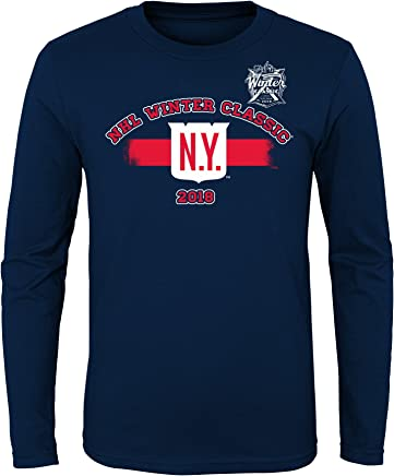 Youth New York Rangers Navy 2018 NHL Winter Classic Ice Long Sleeve T-Shirt 8dfc5b499904