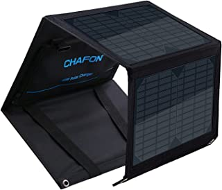 CHAFON 40W Foldable Solar Panel Charger Mono-Crystalline with 18V DC Output for Suaoki/Enkeeo/AIPER/ROCJKPALS/Aeiusny/Webetop Portable Power Station,Laptop Tablet GPS,5V/2A USB Port for Camping