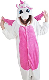 ピンクのユニコーン 大人用着ぐるみ パジャマ 寝巻き モンスター着ぐるみ コスプレ (S(150CM~160CM)) …