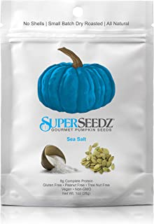 SuperSeedz Sea Salt Pumpkin Seeds Keto Friendly and Paleo Snack - (1oz) 12 pack