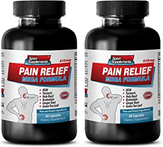 energy booster - PAIN RELIEF MEGA FORMULA - 610MG - holy basil leaf extract - 2 Bottle (120 Capsules)
