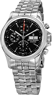 Revue Thommen Air Speed Pilot Men's Black Dial Stainless Steel Automatic Chronograph Day Date Swiss Watch 17081.6134