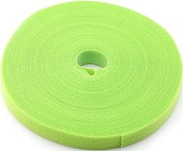 Saisn — Laços de fita de fixação reutilizáveis para ganchos de 3/4 polegadas (24 jardas, verde)