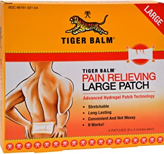 Pain Relieving Patch, Large (8x 4) 4 count (Pack of 6)