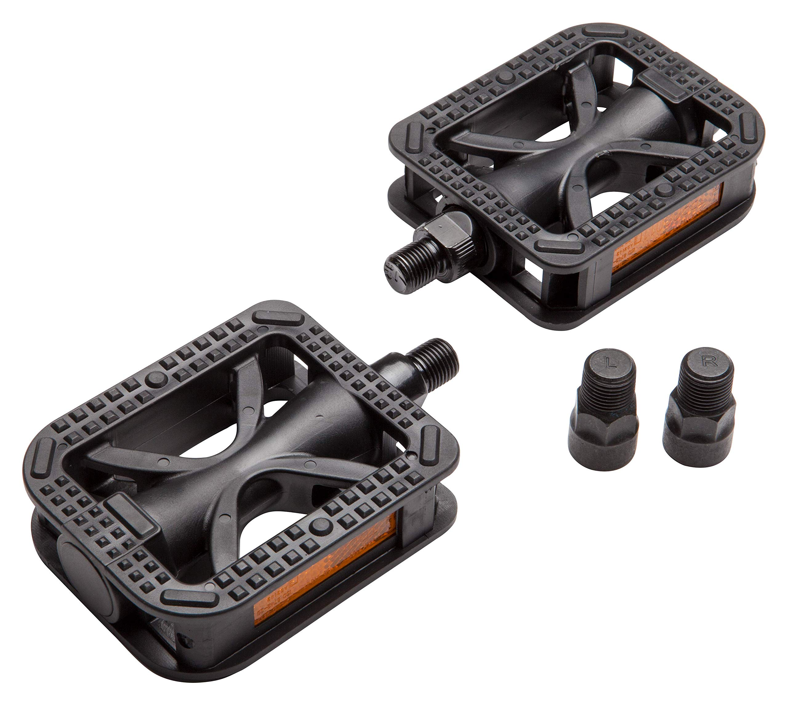 """ORIGINAL Black Platform Pedals in 1//2/"""" and 9//16/"""" NEW STYLE Bicycle Parts"""