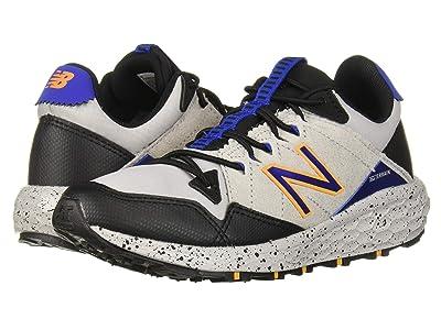 New Balance Kids Fresh Foam Crag v1 (Little Kid) (Rain Cloud/Black/Team Royal) Boys Shoes