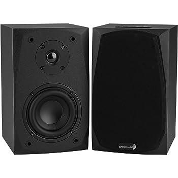 """Dayton Audio MK402BTX Powered Bluetooth 4"""" 2-Way Bookshelf Speaker Pair with 3.5mm Aux in"""