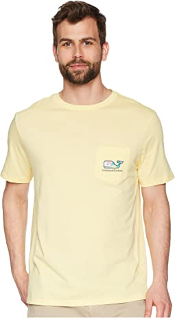 Vineyard Vines - Short Sleeve Tropical Drink Whale Fill Pocket Tee