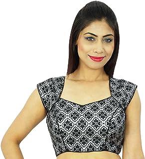 233dd57f8d Diseñador de las mujeres de la blusa cosida India Sari Choli Weaving  Bollywood Crop-Top