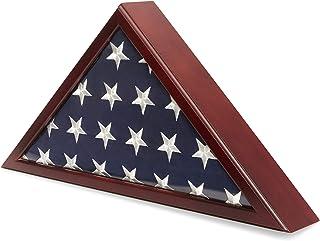 Juvale American Veteran Burial Flag Display Case, Glass Box (24.7 x 12.4 x 3.5 in)