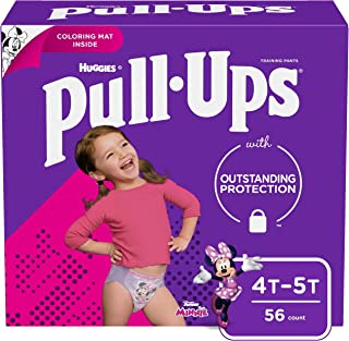 Pull-Ups Learning Designs Girls` Training Pants, 4T-5T, 56 Ct