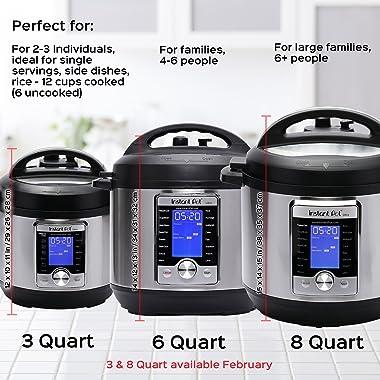 Instant Pot Ultra 80 Ultra 8 Qt 10-in-1 Multi- Use Programmable Pressure Cooker, Slow Cooker, Rice Cooker, Yogurt Maker, Cake