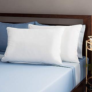 JDX Reliance Polyester Blend Fiber Pillow, White -Set of 2