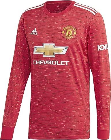 Amazon.com : adidas Manchester United Long Sleeve Home Shirt ...
